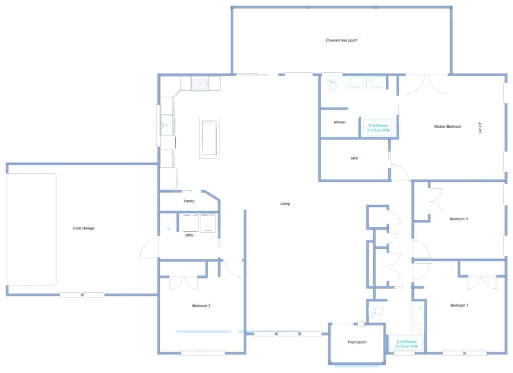 Como 4dedroom Blueprint